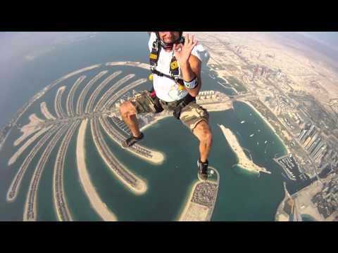 Parachuting in Dubai