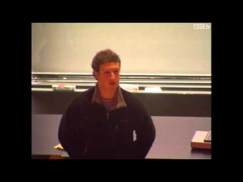 CS50 Guest Lecture by Mark Zuckerberg