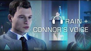 Late night talk with Connor & rain ASMR/Imagine 💙 (Detroit: become human)
