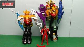 Robot siêu nhân gaoking phiên bản mini đồ chơi trẻ em gao rangers megazord mini version toy