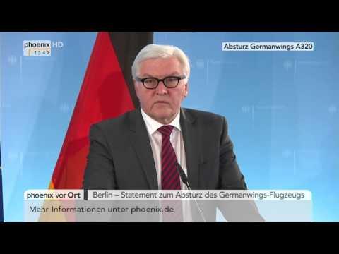 Flugzeugabsturz: Statement von Frank-Walter Steinmeier am 25.03.2015