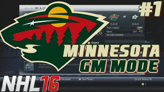 MINNESOTA MIRACLE MAN - NHL Legacy - GM Mode Commentary - Minnesota ep. 1