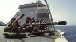 2 Navy Snipers vs 38 Somali Pirates HD