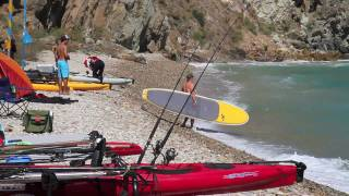 Catalina Island, 4 days sailing Hobie Islands, fishing, camping and stand up paddle boarding.