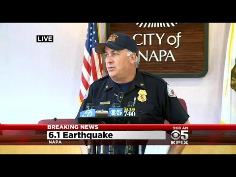 South Napa Quake: Napa Officials 9AM Press Conference Sunday