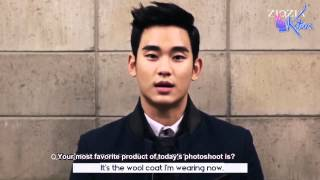 [ENGSUB] 141105 Kim Soo Hyun - Ziozia Winter Photoshoot and Interview