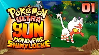 MR. WHISKERS! OUR FIRST SHINY IS HERE! Pokemon Ultra Sun and Moon Mono Fire Shinylocke! Episode 1
