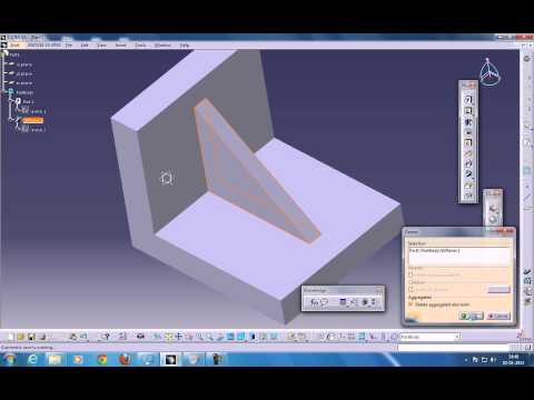 Catia V5 Tutorials|Part Design|Stiffener