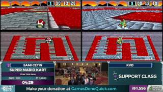 Super Mario Kart by Sami Cetin and KVD in 30:24 - AGDQ 2017 - Part 7