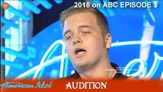 """Download Lagu Caleb Lee Hutchinson great Voice """"If It Haven't Been For Love"""" Audition American Idol 2018 Episode 3 Gratis STAFABAND"""