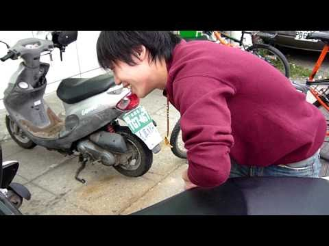 Eric. locking his keys in his scooter (pt. 1)