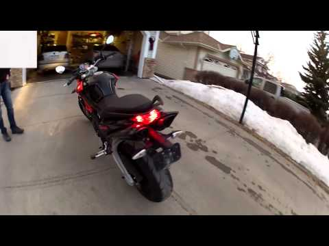 First Vid of 2014 - Motorcycle in Snow?