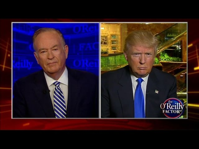 Bill O'Reilly grills Trump over racist tweet