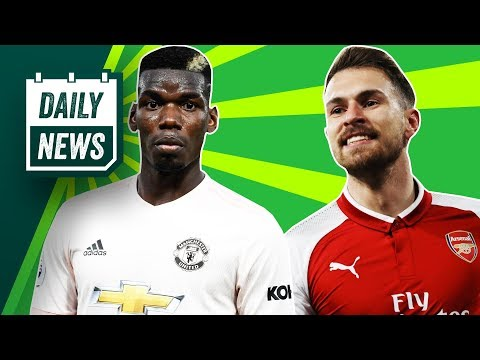 Pogba agent showdown talks, Barcelona new logo + Ramsey to leave Arsenal ► Onefootball Daily News