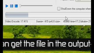 How to: Make videos you got on your PC,  viewable on a mobilephone in 3GP format.