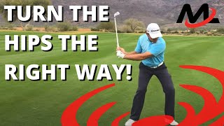 How to Turn The Hips Correctly In The Downswing