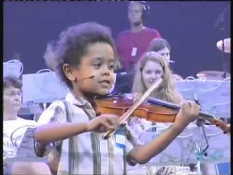 Akim Camara aged 5 violonist & Andre Rieu  in New York playing Dance Of The Fairies Music Videos