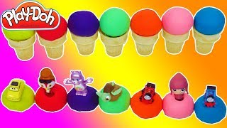 Learn Colors Play Doh Ice Cream Cone Molds Finger Family Nursery Rhymes Song for Kids Finding Dory