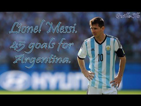 Lionel Messi ● 45 goles en la selección Argentina - 45 goals for Argentina ● [2006-2015]