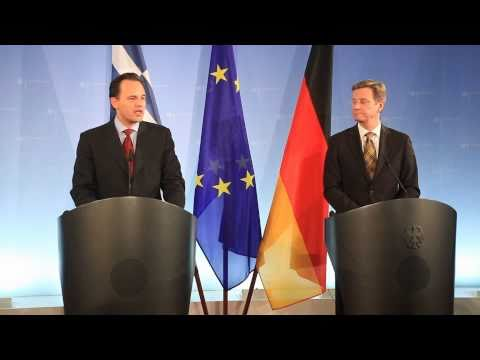 Statements of Greek FM Droutsas and German FM Westerwelle (9.11.2010)