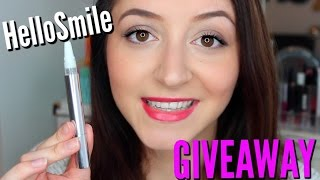 HOW TO Whiten Teeth at Home!! TheHelloSmile Whitening Pen + GIVEAWAY!