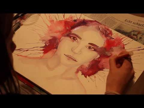 Speed Painting #1 - Watercolor Portrait [Zorina-Art]