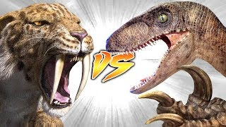 SMILODON VS UTAHRAPTOR [Who Would Win?]