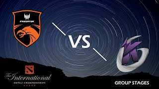 🔴 [EN] Dota 2 Live | TNC Predator vs Keen Gaming | TI9 Group Stages BO2 Game 01