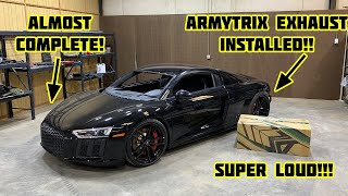 Rebuilding a Wrecked 2018 Audi R8 Part 11