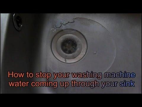washing machine backing up into kitchen sink