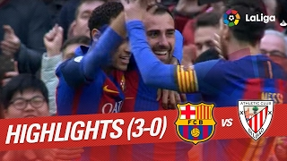 Resumen de FC Barcelona vs Athletic Club (3-0)