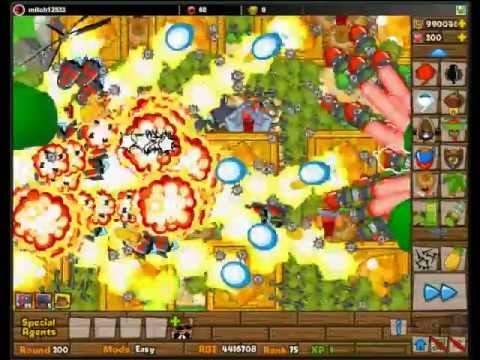 BTD5 Tutorial Bloon Tower Defense 5 Level 200!