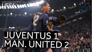 JUVENTUS 1-2 MAN UNITED UCL HIGHLIGHTS