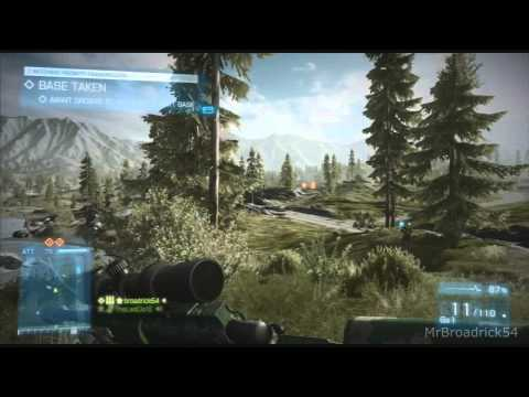 Battlefield3:  End Game Sniper Gameplay Kiasar Railroad