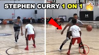 Stephen Curry BREAKS ANKLES VS Regular People 1 on 1 Part 2 August 2017