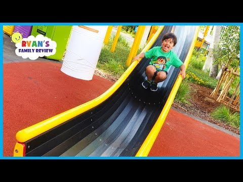 Super Huge Giant Slide at Legoland Japan with Ryan's Family Review!