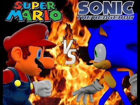 Mario Vs Sonic: Mario Blue/Sonic Red  *Fan Project*