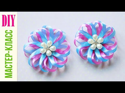 Банты цветы из атласной ленты 73