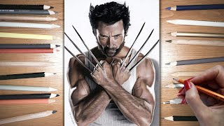 Speed Drawing: Hugh Jackman as Wolverine | Jasmina Susak