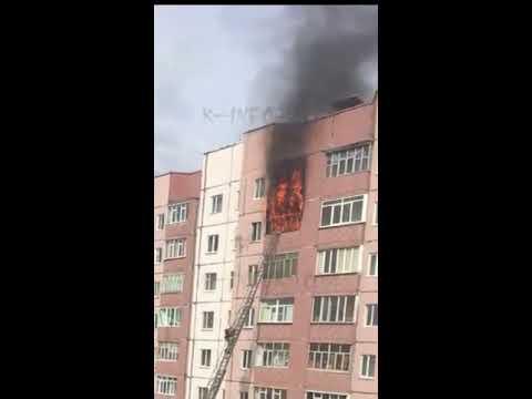 Утром в Сургуте горела квартира на 8 этаже
