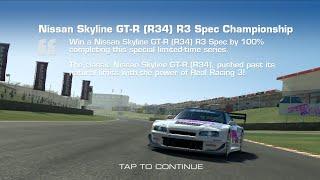 Real Racing 3 Nissan Skyline GT-R (R34) R3 Spec Championship Upgrade Round 1 + Tier 1