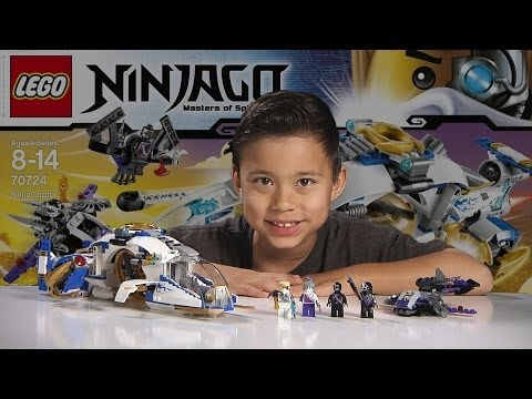 NINJACOPTER - LEGO NINJAGO 2014 Set 70724 - Time-lapse Build. Unboxing & Review!