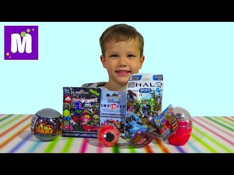 Поли Робокар Star Wars Лего мини фигурки сюрпризы с игрушками распаковка surprise unboxing