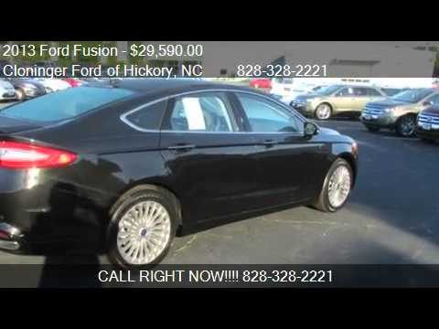2013 Ford Fusion Titanium - for sale in Hickory, NC 28602