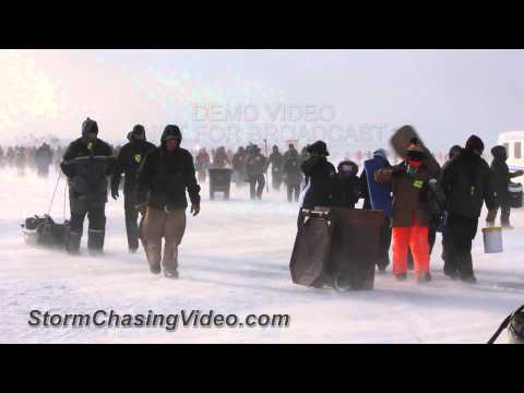 1/19/2013 Brainerd, MN Ice Fishing Extravaganza, Blown Out By The Wind