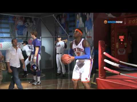 Carmelo Anthony Unveils Wax Figure & Surprises Guests!
