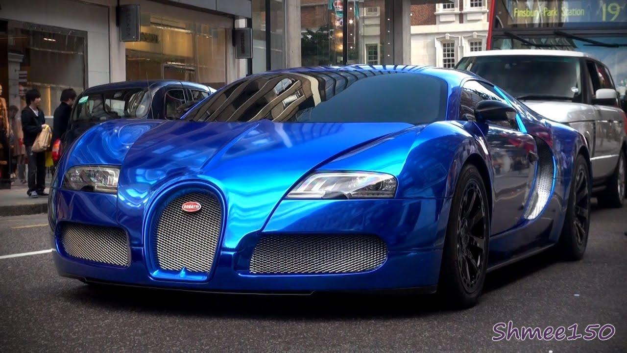 bugatti veyron super sport blue chrome