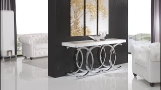 Amazing Modern console table with mirror design ideas 2019