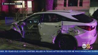 Garbage Truck Mayhem Leaves Cars Destroyed