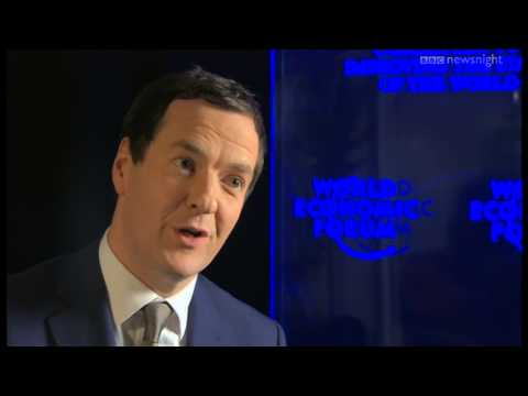 George Osborne on economic plans - Newsnight